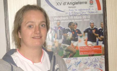 Clémence Ollivier, capitaine de l'équipe Stade Rennais Rugby