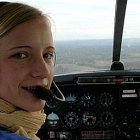 Ariane Bachelot dans son avion