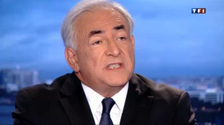 Image de la vidéo de l'interview de DSK sur TF1 du 18 septembre 2011