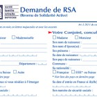 Formulaire de demande de RSA
