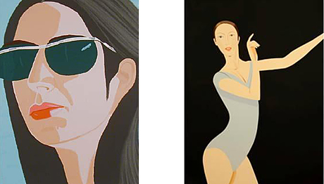 Alex Katz : Ada with Sunglasses, 1990 et Sarah 2011 © All images are copyright protected