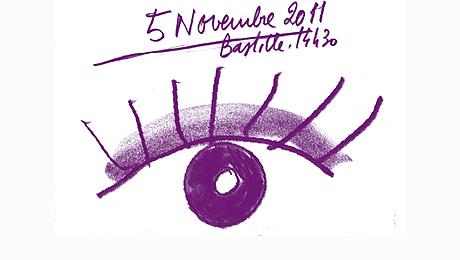 Détail de l'affiche de la manifestation du 5 novembre