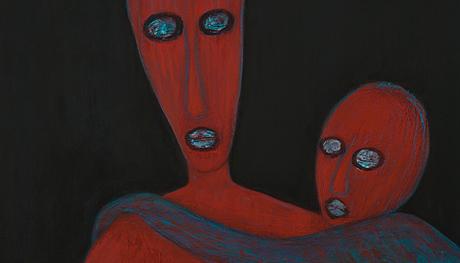 Détail d'une toile d'Evelyne Huet © Evelyne Huet