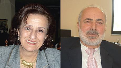 A gauche Lamis Nasser, à droite Musa Shteiwi