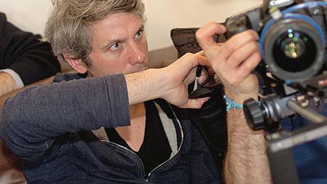 Le réalisateur Steve Catieau pendant le tournage