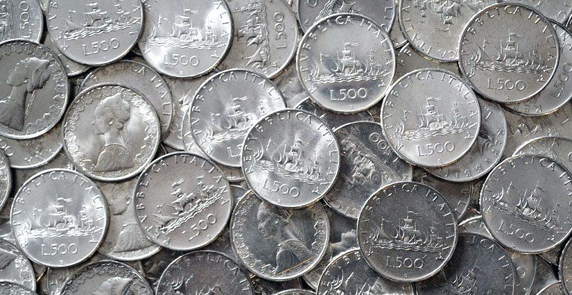 Monete 500 Lire Argento Repubblica Italiana