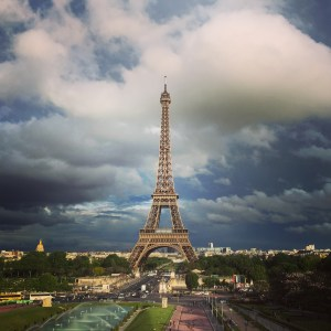 Eiffel Tower before rain, Paris