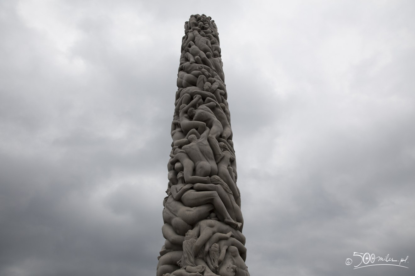 Oslo - Vigeland Park - Monolith close-up