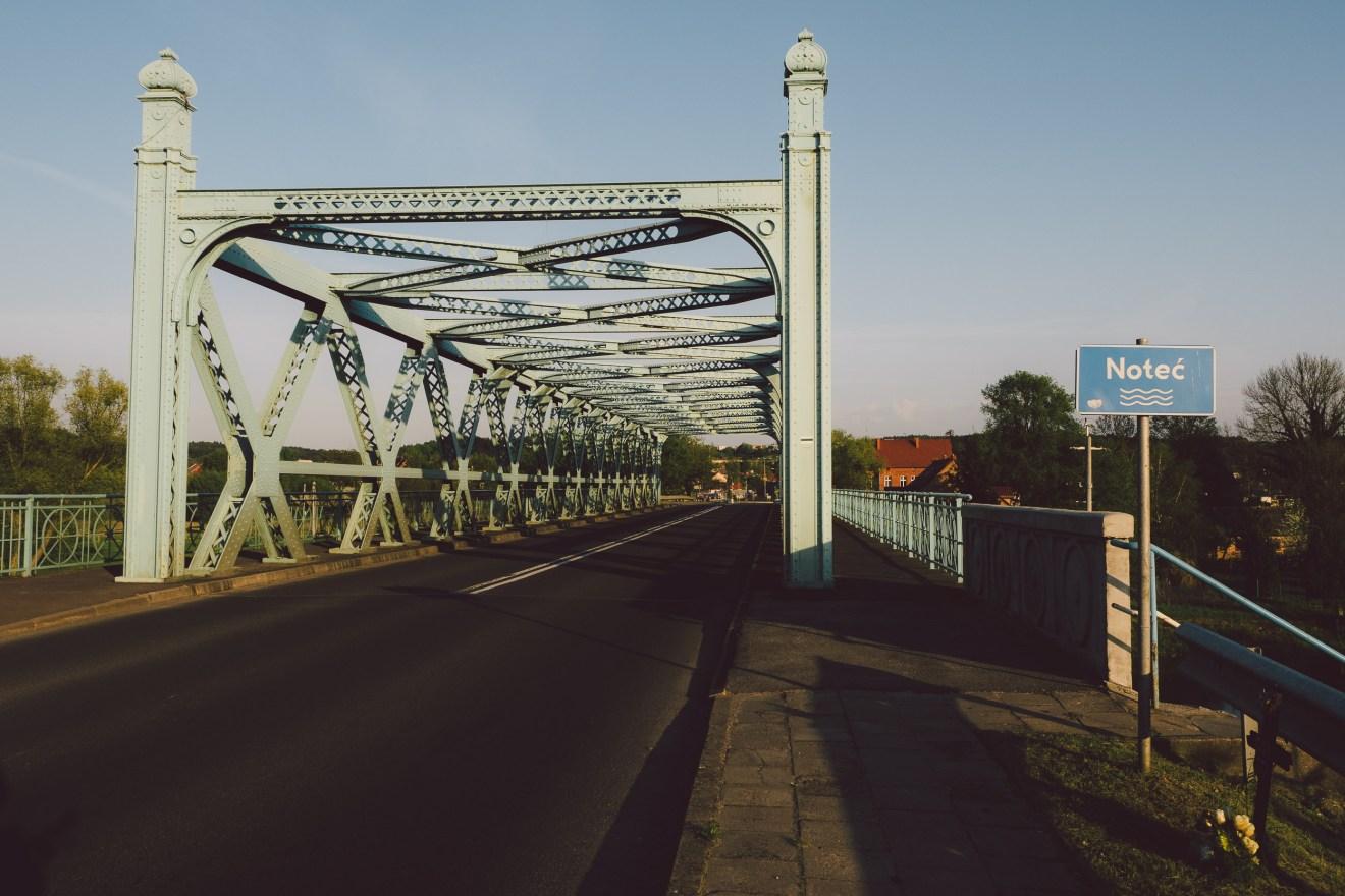 Wędruący most na Noteci w Czarnkowie