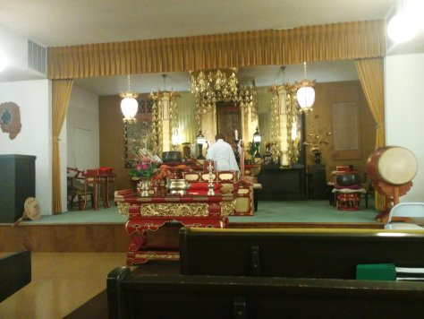 Sunday service at Sacramento Nichiren Buddhist Church