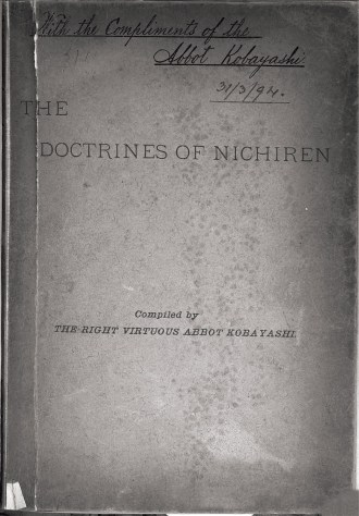 The Doctrine of Nichiren bookcover