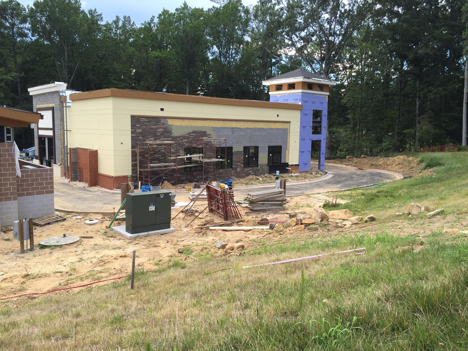 August construction progress at 501 Pharmacy in Chapel Hill, NC