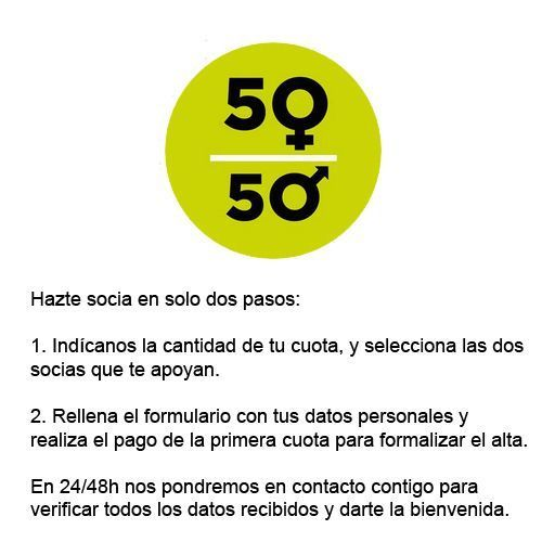 Date de alta de socia de 50a50
