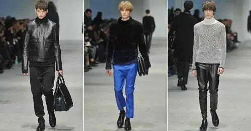 A coleção Ferragamo veio com predominância do azul e preto