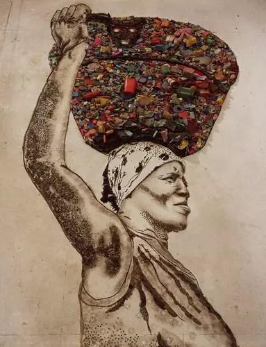 Trabalhadora do grande lixão de Gramacho