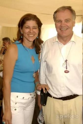 A jornalista com o então marido Patrick Head