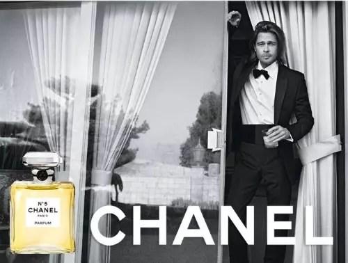 O belo Brad Pitt foi o único homem até agora a emprestar sua imagem ao perfume