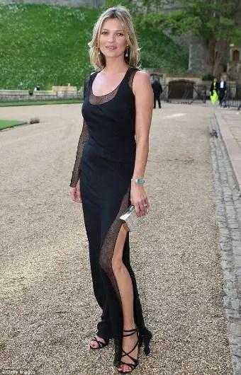 A britânica Kate Moss, 40 anos