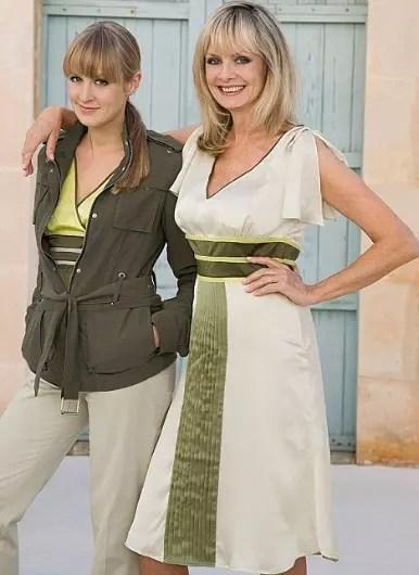Com a filha Carly, também modelo