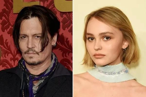 Lily, a filha do ator Jonny Depp, de apenas 15 anos