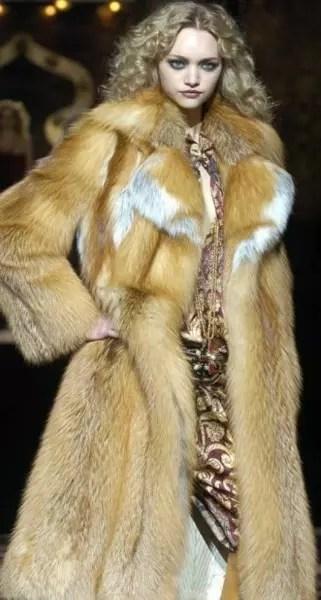 São necessárias 30 raposas para confeccionar um casaco como este