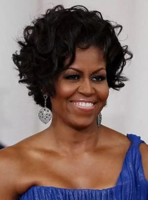 O cabelo da primeira dama americana, Michelle Obama