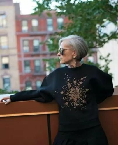 "Ela é Lyn Slater e tem seu próprio blog de moda, o ""Accidental Icon"""