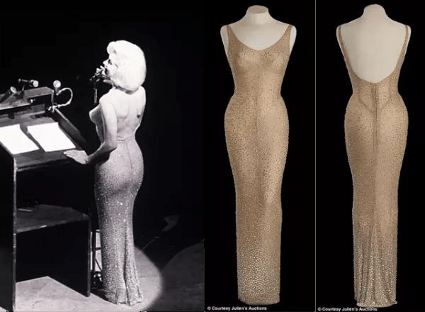 O vestido, com teve que ser costurado no corpo dela, para ficar bem, bem apertado