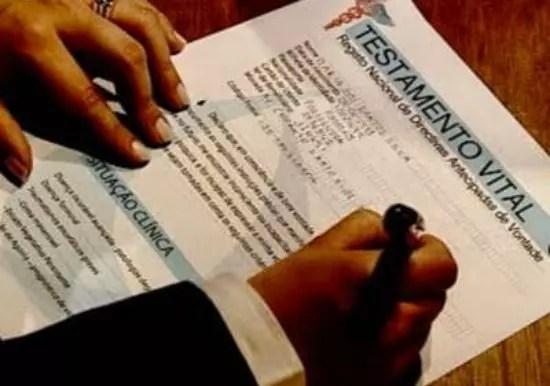 Eis o documento: Registro Nacional de diretivas antecipadas de vontade