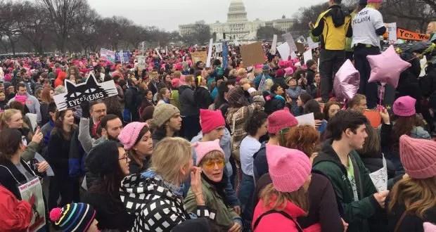 Marcha das Mulheres em Washington: alto comparecimento