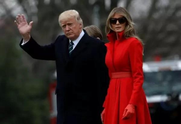 O presidente dos Estados Unidos, Donald Trump: 24 anos mais velho que a mulher Melania