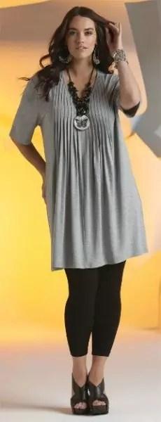 Legging com túnica bem comprida