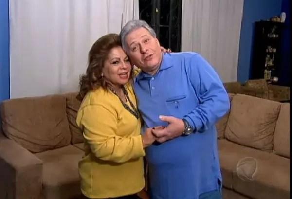 A cantora Ângela Maria, 88, também casou-se com seu produtor musical,Daniel D'Ângelo, , 57