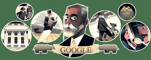 A homenagem do Google na data de nascimento do escritor carioca