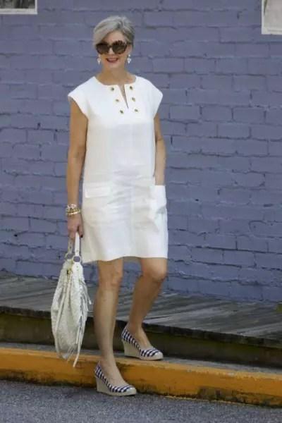 Vestido branco mais solto