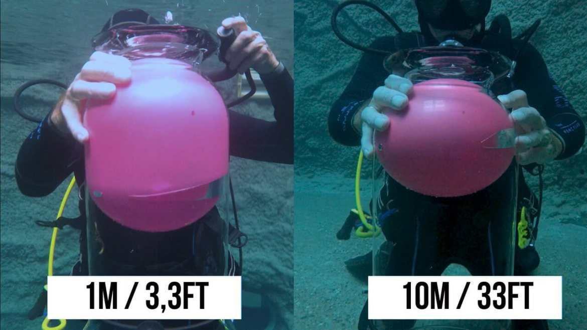 10m/1m   Why not to hold your breath while scuba dive