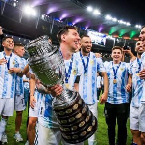 Lionel Messi With The Copa America trophy  messi - FB IMG 1625979461612 300x300 - Copa America: Messi Wins Four Individual Awards As Argentina Claim First Title in 28 Years