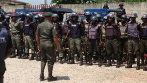IGP Special Squad Arrest 9 Suspects and 6 youths Over The Destruction of Fulani Herdsmen Camp In Kwara Communities igp special squad - Mobile Police MOPOL 300x169 - IGP Special Squad Arrest 9 Suspects and 6 youths Over The Destruction of Fulani Herdsmen Camp In Kwara Communities