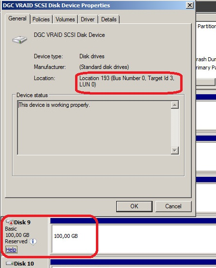 How to translate Windows disk ids to storage array's LUNs