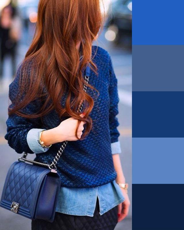 colori monocromatici blu