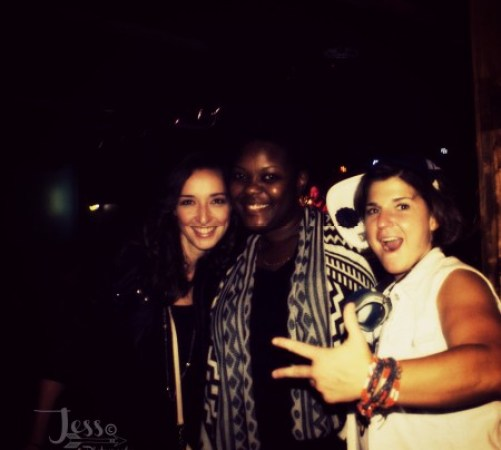 Hanging out with Jenn Bostic, Kyshona Armstrong after the show.