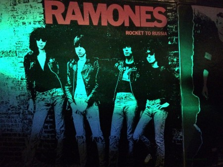 Ramones poster at the Beat Generator Live