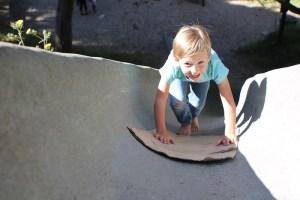 Concrete Slide at Dorothy Bolte Park