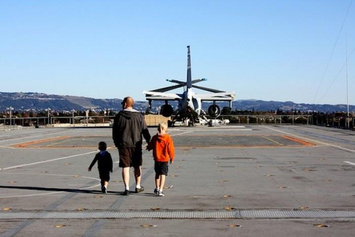 Alameda's USS Hornet with kids