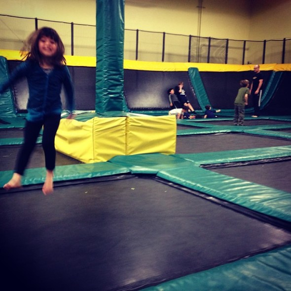 Bay area trampoline park: on the road to LA from SF