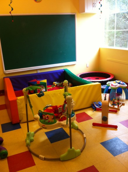 baby room at Play Cafe in Oakland