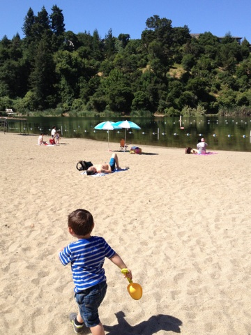 Lake Temescal Beach