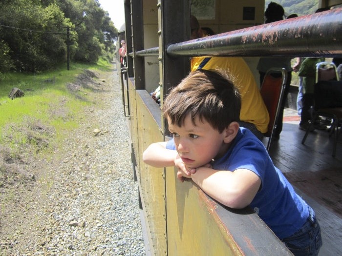 Niles Canyon Railway child looks out window