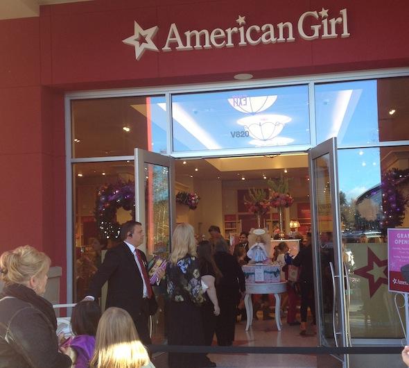 The American Girl Store in Palo Alto