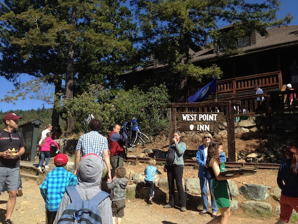 Hike to West Point Inn for pancakes